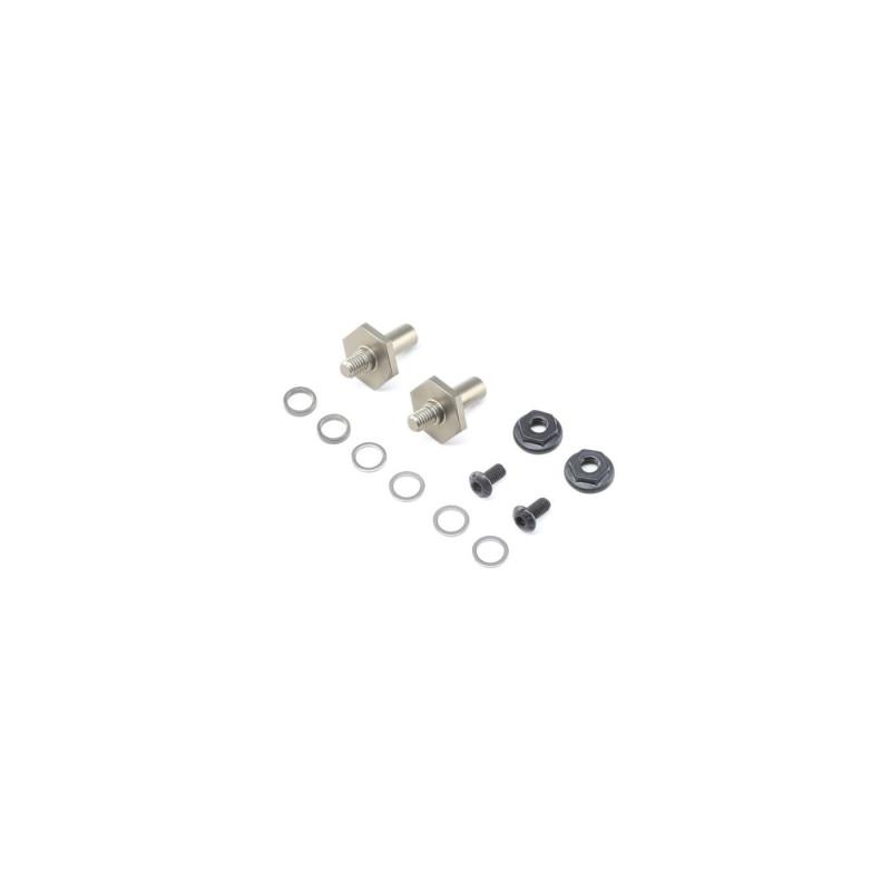 22 4.0 - Axe de roues avant, aluminium 1mm adj, hex 12mm TLR232070