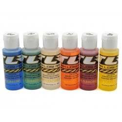 Team Losi Racing Silicone Shock Oil Six Pack (17.5, 22.5, 27.5, 32.5, 37.5, 42.5wt) (60ml)