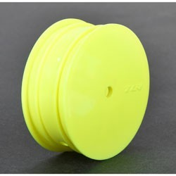 Front Wheel, 12mm Hex, Yellow (2): 22 3.0 TLR43010