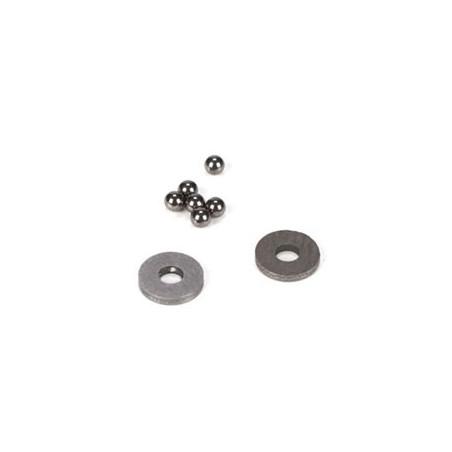 Billes de differentiel en carbure de tungstene, 2mm (6) TLR2947