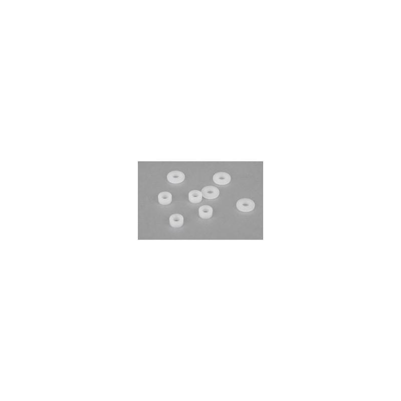 22 tous modeles - Set de paliers d'amortisseurs usines (4) TLR233006
