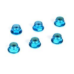 TLR336001 Ecrou auto-freine epaule M4, aluminium, bleu (6) TLR336001 Team Losi Racing RSRC