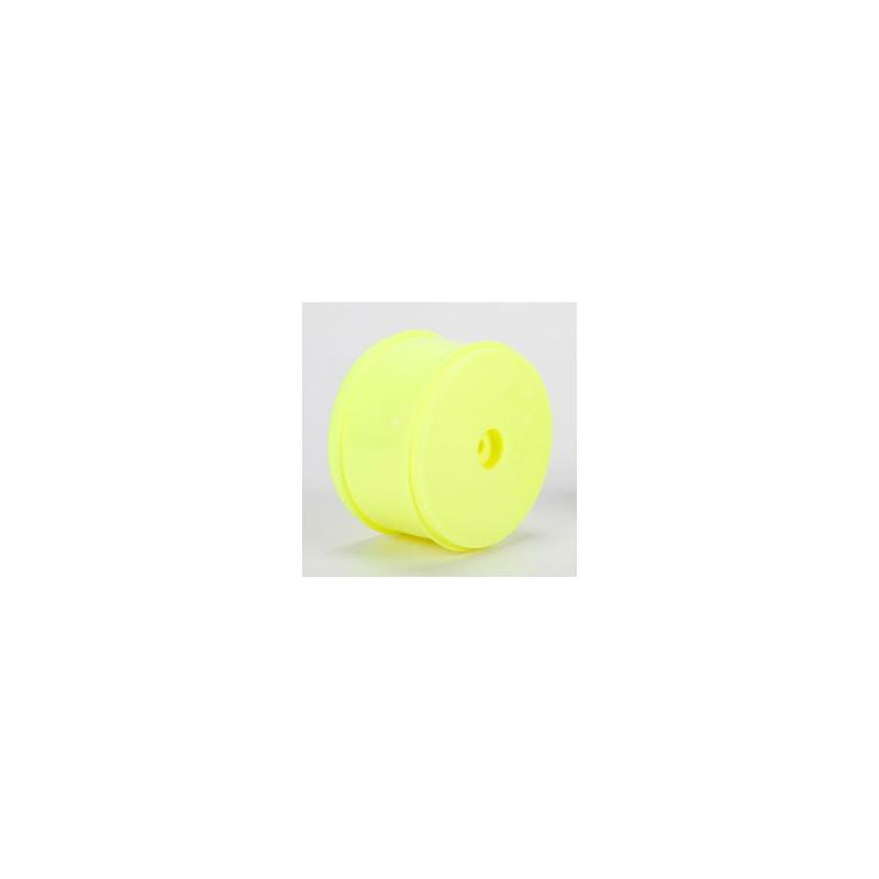 22/22-4 - Jantes avant 61mm, Hexagone 12mm, Jaunes (2) TLR43016