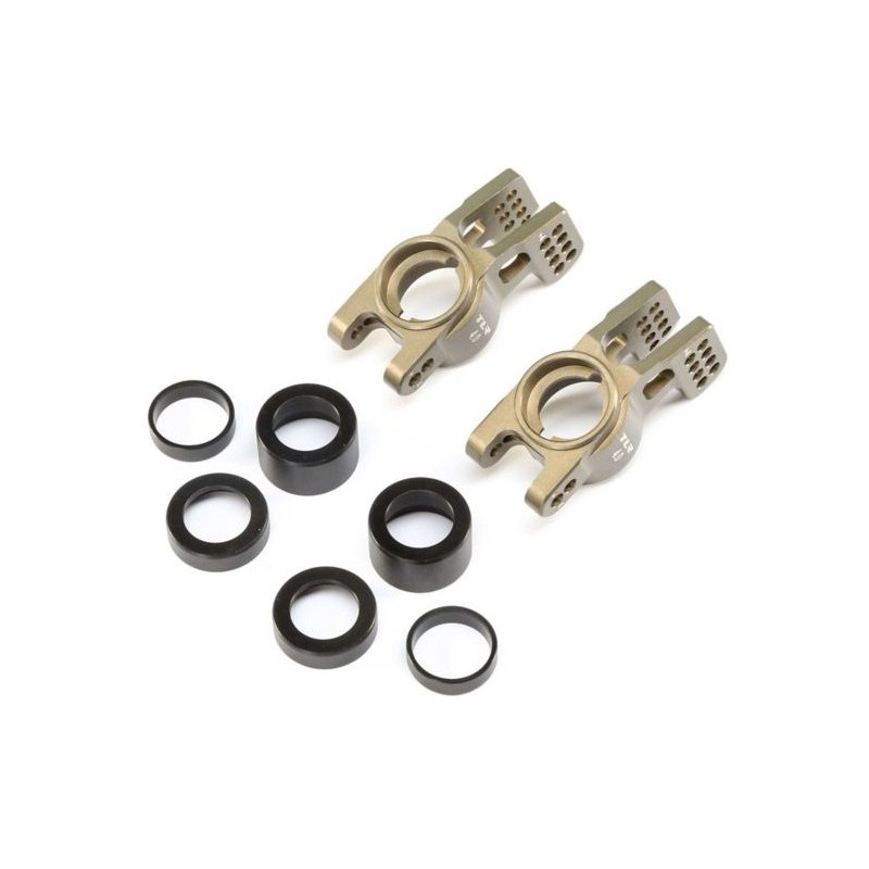 CARBON REAR SHOCK TOWER: 8/E 4.0 TLR344012