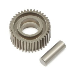 Aluminum Idler Gear & Shaft, Laydown: 22 4.0 TLR332070