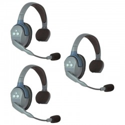 UL3S 3 Casques de communication Pilote - 2 Mécanos Eartec RSRC