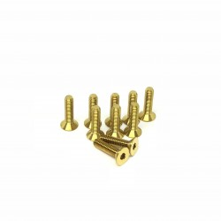 M3x12 Tapered head screws (x10) Titanium Grade 5 Gold coated