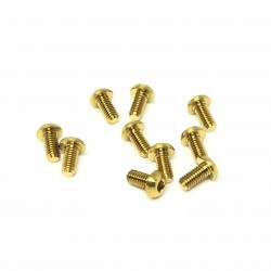 M3x8 Buttonhead screws (x10) Titanium Grade 5 Gold coated