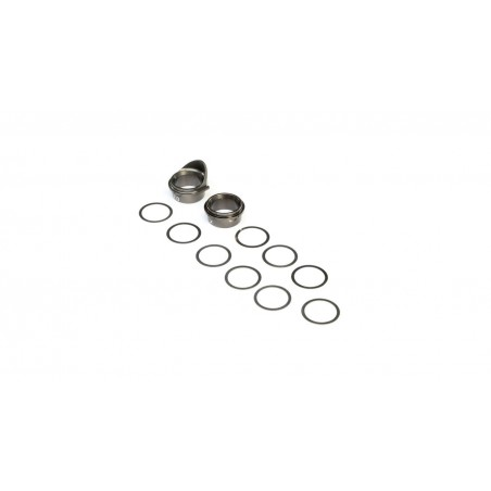 Rear Gearbox Bearing Inserts, Aluminum: 8X TLR242026