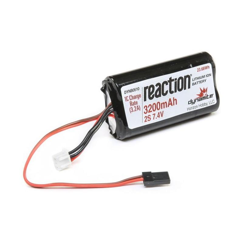 Pack réception 7.4V 3200mAh 2S Li-ion: 1/8 DYNB0510