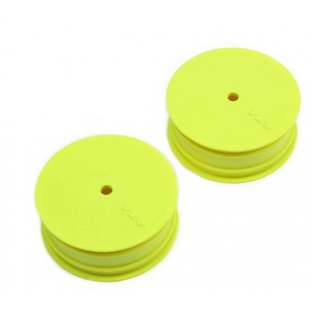 Jantes avant Stiffezel (dures), hexagone 12mm, Jaunes pour 22 TLR43018