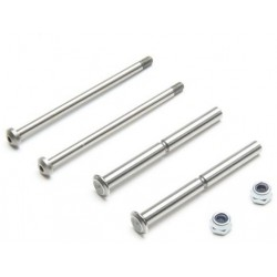 Front Hinge Pin and King Pin Set, Polished: All 22 TLR234098