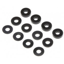 M3 Aluminum Washer Set, Black (4ea) TLR336006