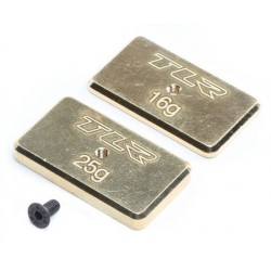 Rear Brass Weight Set, 16g & 25g: 22 5.0 TLR331041