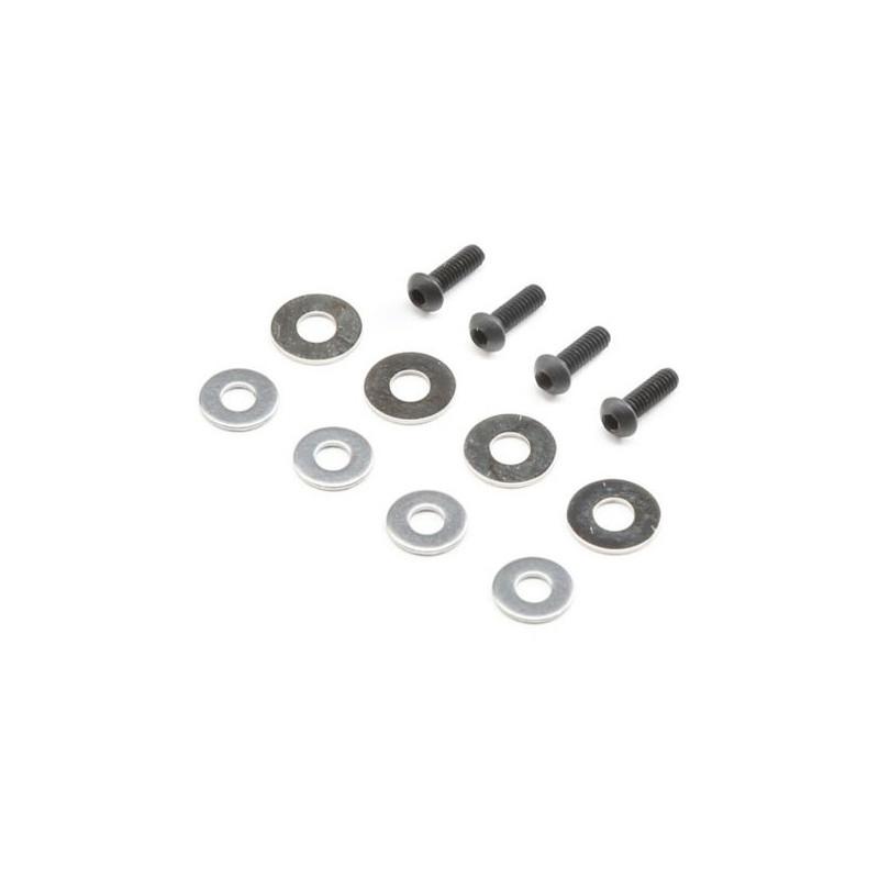 Set de rondelles et vis d'amortisseur (4) 8X TLR243046