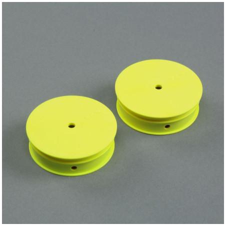 Narrow Front Wheel, Stiffezel, Yellow (2): 22 TLR43020