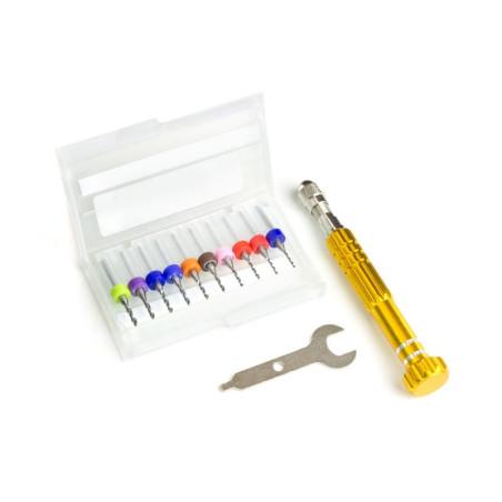 Kit de perçage de précision (forets de 1.1 à 2.0mm)