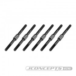 2740 B6.1 Fin Titanium turnbuckle set - black, 6pc  RSRC