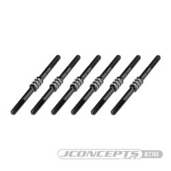 2740 B6.1 Fin Titanium turnbuckle set - black, 6pc Jconcepts RSRC