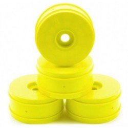 RS4Y  Yellow 1/8 buggy Dish Wheels (4 pcs) Fastrace RSRC