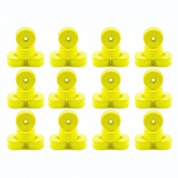 Pack of 48 Yellow 83mm Dish Wheels (24 pairs)