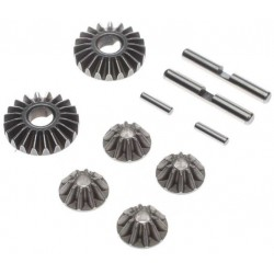 TLR232099 Gear Set, G2 Gear Diff, Metal: 22 TLR232099 Team Losi Racing RSRC