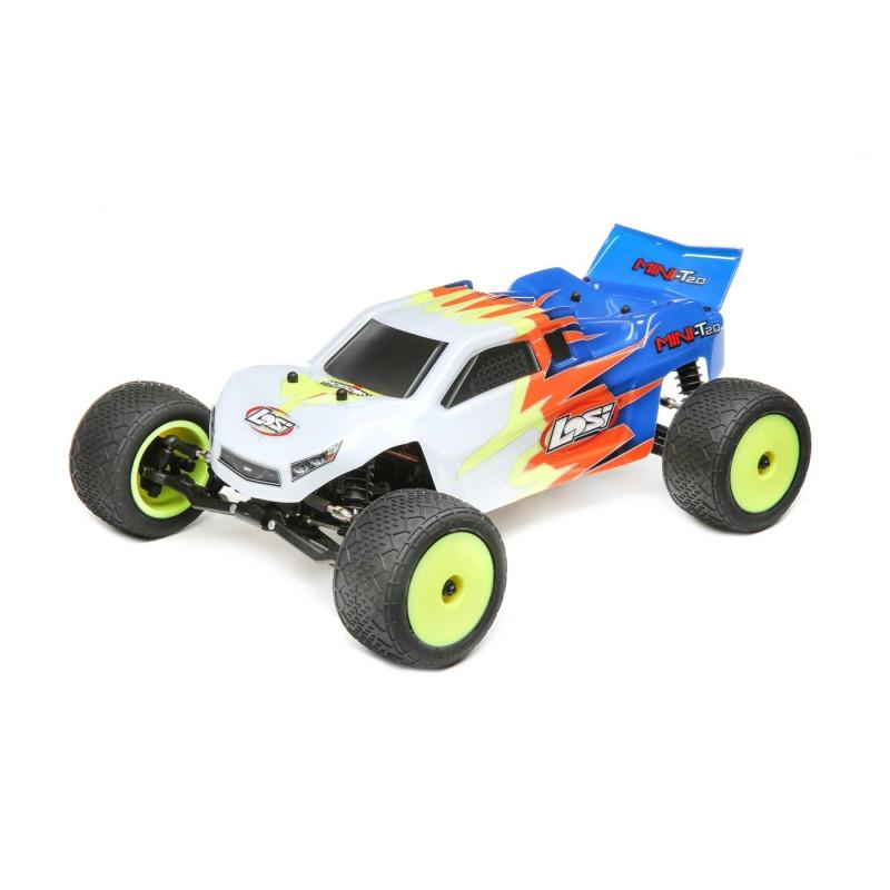 Losi Mini-T 2.0 2WD Stadium Truck RTR 1/18, Blue/White LOS01015T2 Losi RSRC
