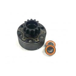 XTR-0040 Cloche d'embrayage  XTR 13 dents  ventilée + roulements XTR RSRC