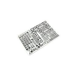 DECAL LAZER ZX7 LAD03 LAD03 Kyosho RSRC