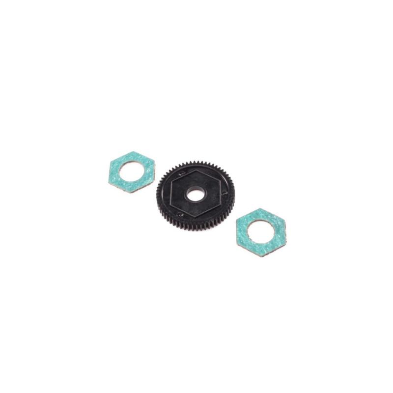 Spur Gear w/ Slipper Pads, 60T, 0.5M: Mini-T 2.0 LOS212016