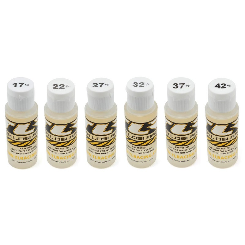 TLR74019 Team Losi Racing Silicone Shock Oil Six Pack (17.5, 22.5, 27.5, 32.5, 37.5, 42.5wt) (60ml) Team Losi Racing RSRC