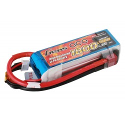 Gens ace Battery LiPo 3S 11.1V-1800-40C(Deans) 97x32x26mm 150g GE1-1800-3D