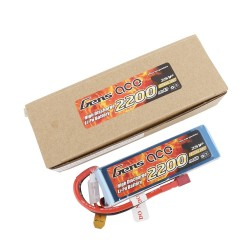 Gens ace Battery LiPo 2S 7.4V-2200-30C(Deans) 108x34x16mm 125g GE1-2200-2D