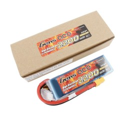 Gens ace Battery LiPo 2S 7.4V-2200-30C(XT60) 108x34x16mm 125g GE1-2200-2X