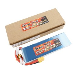 Gens ace Battery LiPo 2S 7.4V-2500-30C(XT60) 136x42x12mm 150g GE1-2500-2X