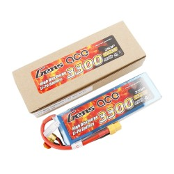 Gens ace Battery LiPo 2S 7.4V-3300-30C(XT60) 138x42x16mm 180g GE1-3300-2X