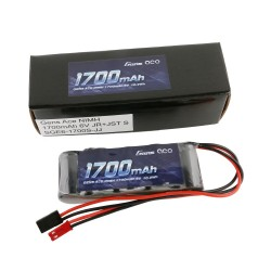 GE6-1700S-JJ Gens ace Batterie Rx NiMh 6.0V-1700Mah (Dual JR-JST) 125g - Straight GE6-1700S-JJ Gens ace RSRC