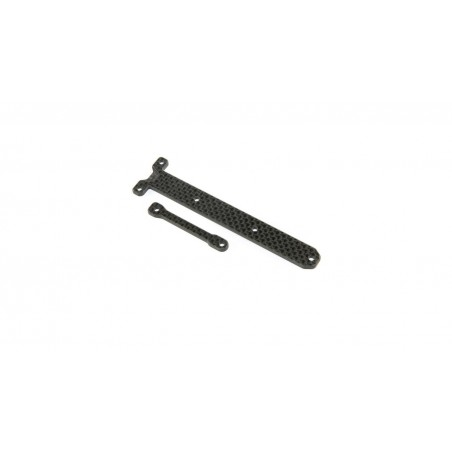 Carbon Chassis Brace Support Set: 22X-4 TLR231088