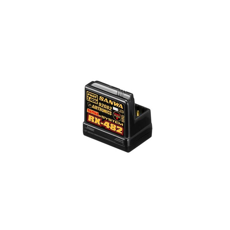 107A41257A RECEPTEUR RX-482 4 VOIES 2,4GHZ FH4 SSL/TELEMETRIE ANTENNE INTEGREE 107A41257A Sanwa RSRC