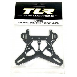 Rear Shock Tower, Black Aluminum: 8X/8XE TLR244062