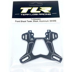 Front Shock Tower, Black Aluminum: 8X/8XE TLR244063