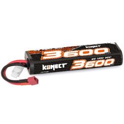 KN-LP2S3600 Konect Lipo 3600mah 7.4V 30C 2S1P 26.6Wh (Stick Pack Dean) KN-LP2S3600 Konect RSRC