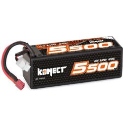 KN-LP4S5500 Batteries Konect Lipo 5500mah 14.8V 60C 4S1P 81.4Wh (XL pack Dean) Konect RSRC