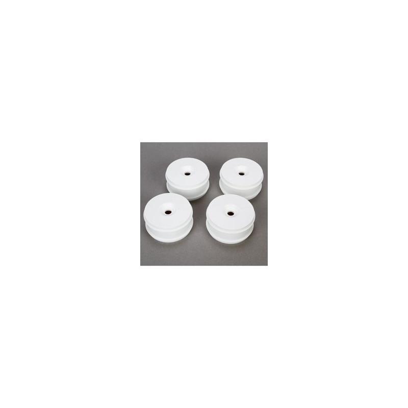 1/8 Buggy Dish Wheel, White (4): 8B 3.0