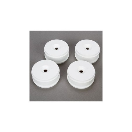 1/8 Buggy Dish Wheel, White (4): 8IGHT Buggy 3.0 TLR44001