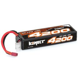 KN-LP3S4200 Konect Lipo 4200mah 11.1V 40C 3S1P 46.6Wh (Slim Pack Dean) KN-LP3S4200 Konect RSRC