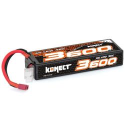 KN-LP3S3600 Konect Lipo 3600mah 11.1V 30C 3S1P 39.0Wh (Slim Pack Dean) KN-LP3S3600 Konect RSRC