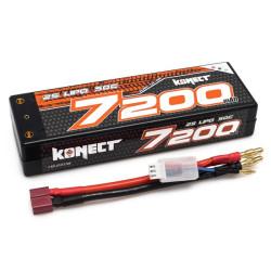 KN-LP2S7200 Konect Lipo 7200mah 7.4V 50C 2S1P 53.2Wh (Slim Pack Dean ) KN-LP2S7200 Konect RSRC