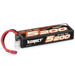 KN-LP2S5200 Konect Lipo 5200mah 7.4V 50C 2S1P 38.4Wh (Slim Pack Dean ) KN-LP2S5200 Konect RSRC