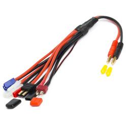 KN-130000 Cable de charge 5 en 1 Tamiya/Dean/JST/Futaba RX/TRX/EC3 KN-130000 Konect RSRC
